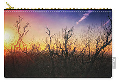 Carry-all Pouch featuring the photograph Treetop Silhouette - Sunset At Lapham Peak #1 by Jennifer Rondinelli Reilly - Fine Art Photography