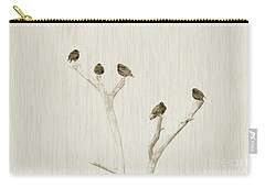 Treetop Starlings Carry-all Pouch by Benanne Stiens