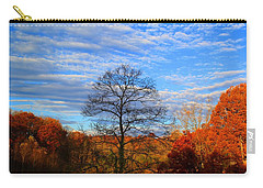 Carry-all Pouch featuring the photograph Treetops Sunrise by Kathryn Meyer