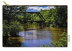 Carry-all Pouch featuring the photograph Trestle Over River by Mark Myhaver
