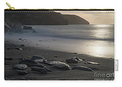 Carry-all Pouch featuring the photograph Photographs Of Cornwall Trevellas Cove Cornwall by Brian Roscorla