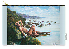 Trevor On The Beach Carry-all Pouch