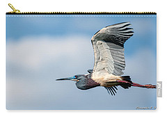 Tri-colored Heron In Flight Carry-all Pouch