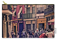Carry-all Pouch featuring the photograph Triana On A Sunday Afternoon 2 by Mary Machare