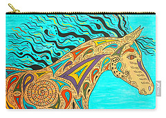 Tribal Carnival Spirit Horse Carry-all Pouch