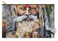 Carry-all Pouch featuring the painting Tribal Chief Sadhu by Richard Day