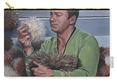 Carry-all Pouch featuring the painting Tribble Trouble by Kim Lockman