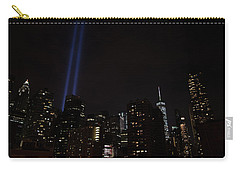 Carry-all Pouch featuring the photograph Tribute And Tower by Jeff at JSJ Photography