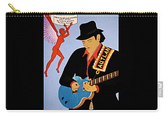 Carry-all Pouch featuring the painting Tribute To Carlos by Stephanie Moore