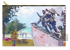 Carry-all Pouch featuring the painting Tribute To First Black Marines by Jim Phillips
