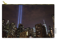 Carry-all Pouch featuring the photograph Twin Beam Tribute To The Towers by Jeff at JSJ Photography