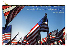 Carry-all Pouch featuring the photograph Thank You by Peggy Hughes