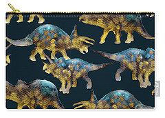 Triceratops Carry-all Pouch by Varpu Kronholm