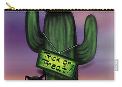 Trick Or Treat Cactus Carry-all Pouch
