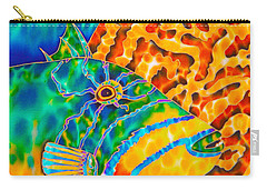 Triggerfish And Brain Coral Carry-all Pouch