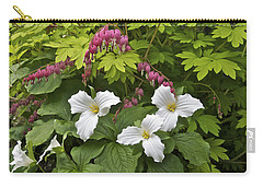 Trillium And Bleeding Hearts1079 Carry-all Pouch