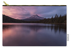 Carry-all Pouch featuring the photograph Trillium Lake Glow by Patricia Davidson