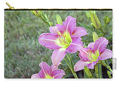 Trio Lavender Day Lilies Carry-all Pouch