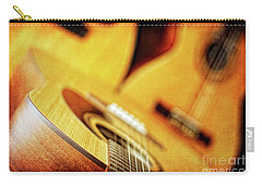 Trio Of Acoustic Guitars Carry-all Pouch