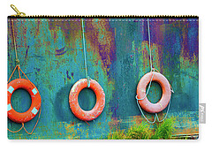 Trio Of Life Buoys Carry-all Pouch