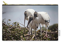 Trio Of Storks Carry-all Pouch by Jim Gillen