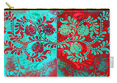 Carry-all Pouch featuring the digital art Trip The Night Fantastic Together by Angelina Vick