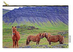 Carry-all Pouch featuring the photograph Triple Horses by Scott Mahon