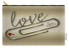 Triple Love Carry-all Pouch