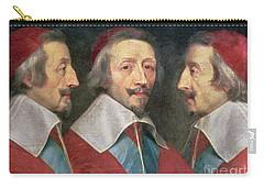 Triple Portrait Of The Head Of Richelieu Carry-all Pouch by Philippe de Champaigne