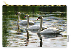 Triplet Swans Carry-all Pouch