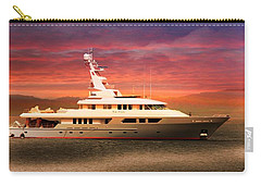 Carry-all Pouch featuring the photograph Triton Yacht by Aaron Berg