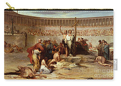 Triumph Of Faith    Christian Martyrs In The Time Of Nero Carry-all Pouch by Eugene Romain Thirion