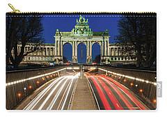Arcade Du Ciquantenaire At Blue Hour Carry-all Pouch
