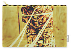 Trojan Horse Wooden Toy Being Pulled By Ropes Carry-all Pouch by Jorgo Photography - Wall Art Gallery