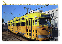 Carry-all Pouch featuring the photograph Trolley Number 1052 by Steven Spak
