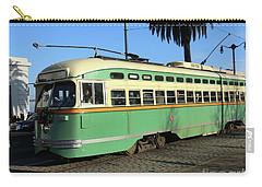 Carry-all Pouch featuring the photograph Trolley Number 1058 by Steven Spak