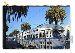 Carry-all Pouch featuring the photograph Trolley Number 1070 by Steven Spak