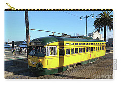 Carry-all Pouch featuring the photograph Trolley Number 1071 by Steven Spak