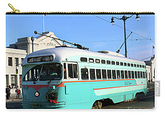 Carry-all Pouch featuring the photograph Trolley Number 1076 by Steven Spak