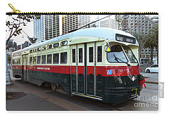 Carry-all Pouch featuring the photograph Trolley Number 1077 by Steven Spak