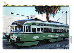 Carry-all Pouch featuring the photograph Trolley Number 1078 by Steven Spak
