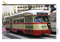 Carry-all Pouch featuring the photograph Trolley Number 1079 by Steven Spak