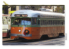 Carry-all Pouch featuring the photograph Trolley Number 1080 by Steven Spak