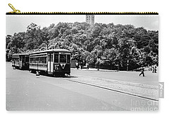 Carry-all Pouch featuring the photograph Trolley With Cloisters by Cole Thompson
