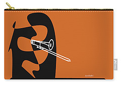 Trombone In Orange Carry-all Pouch by David Bridburg