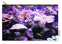 Carry-all Pouch featuring the photograph Tropical Aquarium by Francesca Mackenney