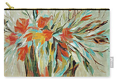 Carry-all Pouch featuring the painting Tropical Arrangement by Joanne Smoley