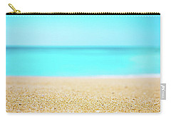 Tropical Art - Turquoise Sand Beach Lagoon Photography Carry-all Pouch