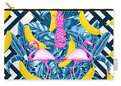 Tropical Banana Pink   Carry-all Pouch