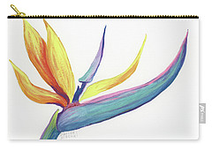 Carry-all Pouch featuring the painting Tropical Bird Of Paradise by Darice Machel McGuire
